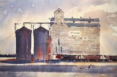 """Bhupinder Singh on Instagram: """"Soo Line at Moose Jaw 2021, Transparent Watercolor 15x22"""" Soo Line Railroad wagons along with CP Rail lying around Moose Jaw Grain…"""" Moose, Industrial, Watercolor, Painting, Instagram, Art, Pen And Wash, Art Background, Watercolor Painting"""