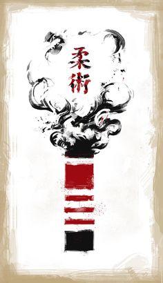 Jiu-Jitsu Black Belt by Plietz - Jiu Jitsu 柔術 ·«ǂ Tattoo Jiu Jitsu, Bjj Tattoo, Jiu Jitsu Black Belt, Jiu Jitsu Belts, Ju Jitsu, Qi Gong, Samurai Art, Brazilian Jiu Jitsu, Martial Arts