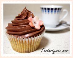 Cupcake de Mousse de Chocolate.