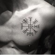 Nordic compass tattoo