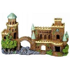 Mini Forgotten Castle Ruins 187 Aquarium Ornament Fish Tank Decoration | eBay