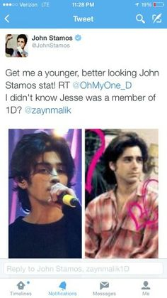 OHMYGOSH J. STAMOS AND ZAYN! TWO OF MY FAVORITE JESSES INT HE ENTIRE WORLD!
