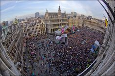 Concert in Grand Place. Brussels. October 2013. © EDanhier
