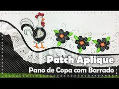 Vida com Arte   Pano de Copa com apliques por Lili Negrão - 12 de Agosto de 2015 - YouTube
