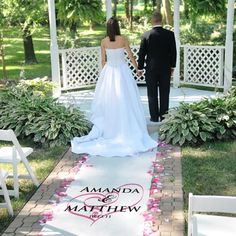 Custom Personalized Monogram or Heart Wedding Ceremony Aisle Runner by PreppyPinkies