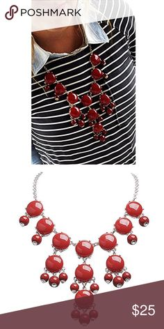 Bubble Necklace In Red New. Jewelry Necklaces
