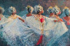 white polleras, dance