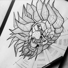 Broken Ink Tattoo - Geometric lion tattoo https://instagram.com/broken_tattoo