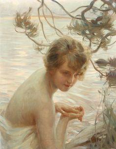 "geritsel: ""Paul Chabas was fond of bathing girls """