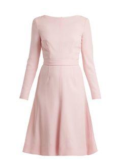 Kate A-line wool-crepe dress   Emilia Wickstead   MATCHESFASHION.COM US