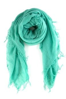 Spearmint Cashmere and Silk Scarf