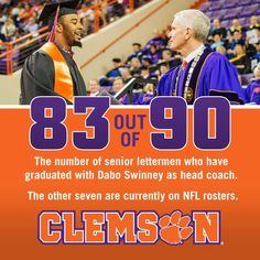 Clemson...simply doesn't accept less than the best. Building Character will take your further than any other attribute!!