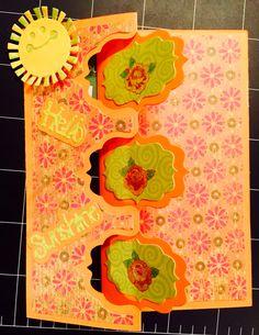 Sizzix flip-HELLO SUNSHINE CARD