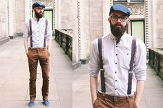 Marks & Spencer Cap, Bershka Sneakers, Baboshka Suspenders