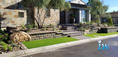 Belgard Belair Wall is one of our favorites to install. Combined with Everlast Tacoma, you end up with amazing curb appeal.