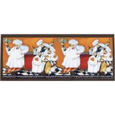 """Found it at Wayfair - Chefs A Cookin Wall Art with Pegs - 10.25"""" x 25"""""""