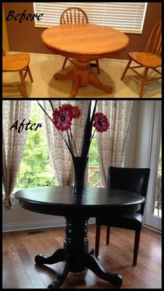 Kitchen table redo, transforms the whole space!