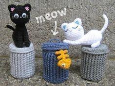 Alley Cats  Amigurumi Pattern  PDF Crochet by stripeyblue on Etsy