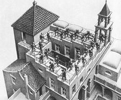 M. C. Escher. House of stairs