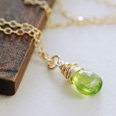 Peridot necklace-I would love to get this for my wife.