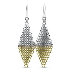 Two Tone Mesh Earrings