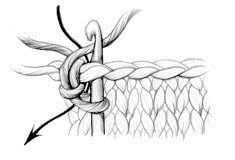 Reverse Single Crochet - Glossary - Knitting Daily-- good border stitch to help stockinette stay flat
