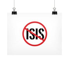 Defeat ISIS Horizontal Fine Art Prints (Posters)