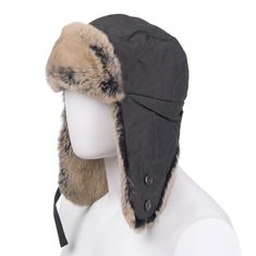 18b5c6a163653 Woolrich Trapper Hat Size L Rabbit Fur Details Teflon Fabric Protector  Padded for sale online