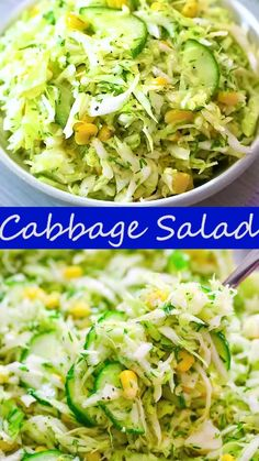 Salad Recipes Healthy Vegetarian, Vegetable Salad Recipes, Healthy Eating, Vegan Vegetarian, Healthy Food, Vegetarian Side Dishes, Veg Dishes, Clean Eating, Cabbage Salad Recipes