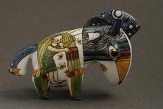 anya stasenko and slava leontyev | Painted porcelain sculptures by Anya Stasenko and Slava Leontyev
