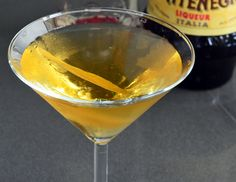 Swap out the vermouth for Amaro Montenegro— a light, citrusy and bitter Italian liqueur. My favorite gin to use is infused with grapefruit so I use the peel of the fruit instead of an olive. For a dirty martini add a squeeze of grapefruit juice.