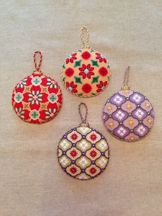 Love the stitch design on these K&B baubles