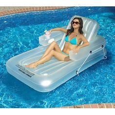 Overton's : Swimline KickBack Single Adjustable Lounger - Watersports > Lake & Pool Leisure > Floats & Lounges : Swimming Pool Lounges, Pool Floats, Pool Chairs, Rafts