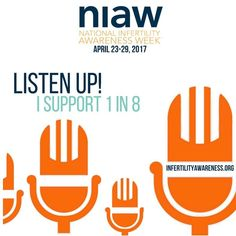 Listen up! Is the theme for this years infertility awareness week. We have some great things planned for this week. Be sure to check in so you don't miss a thing. #infertilitywarriors #infertility #listenup #infertilityawarenessweek
