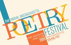 Massachusetts Poetry Festival poster (2009)