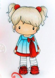 So cute! Cartoon Photo, Girl Cartoon, Cute Cartoon, Cute Images, Cute Pictures, Copics, Digital Stamps, Doodle Art, Cute Drawings