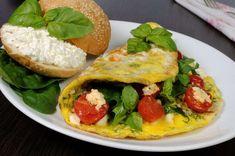 Omeleta me spanaki feta kai ntomata Feta, Healthy Recipes, Healthy Food, Recipies, Tacos, Mexican, Ethnic Recipes, Tortillas, Kai