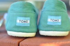 mint green toms, what's more me than that?? :)