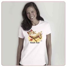 Cadouri pentru iubitorii de animale – Tricouri de plaja Beach Bum, Cool Cats, Booty, T Shirts For Women, Tops, Fashion, Swag, Moda, La Mode