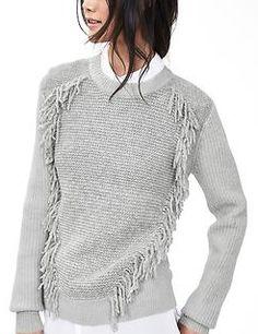Banana Republic Fringe-I've been obsessing over this sweater. Love fringe…