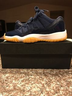 check out 5364a e77c0 Nike Air Jordan 11 Retro Low Midnight Navy Gum Brown 528896-405 GS Size 5y   fashion  clothing  shoes  accessories  kidsclothingshoesaccs  unisexshoes  (ebay ...