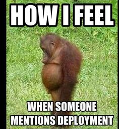 How I feel when someone mentions deployment