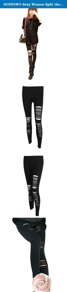SUNNOW® Sexy Women Split the Skinny Jeggings Black Stretch Leggings Tights Leggings (Black), One Size. Sexy Women Split The Skinny Jeggings Black Stretch Leggings Tights Leggings Pencil Specification : Material:Cotton Blend Color:Black Size Chart: Size: S: Waist: 28cm Front Length: 59cm Back Length: 68cm Hip:40CM Length: 90cm Package includes: 1 x Pants Please Note: 1 inch = 2.54 cm Due to different measuring way, the size may exists 1-3cm errors. Due to different computers display colors...