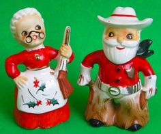 western Santa and gun toting Mrs.Claus
