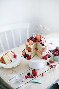 Strawberry Blueberry Pound Cake