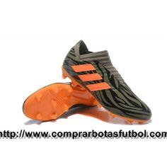 uk availability bba67 09990 Botas De Futbol Adidas Nemeziz Messi 17+ 360 Agility FG Ejército Verde Negro  Naranja