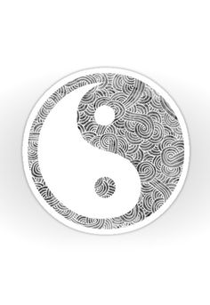 """Grey and white zentangles"" Sticker by Savousepate on Redbubble"