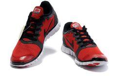 104659aa7c91 Nike Free 3.0 V2 Mens University Red Black