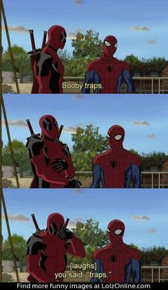 Deadpool can be hilarious in times where he shouldn't be. That's what make him one of the greats.