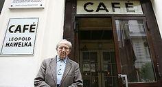 Cafe Hawelka. Vienna, Austria.  Ah, melange.